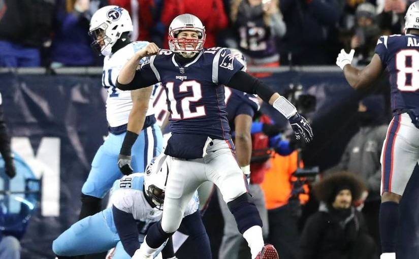 The Pats vanquish the Titans to advance to the AFC TitleGame
