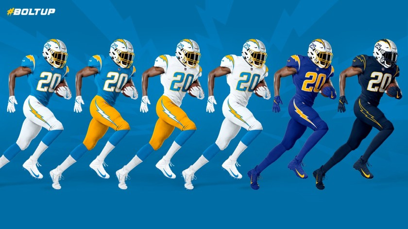 chargers new unis
