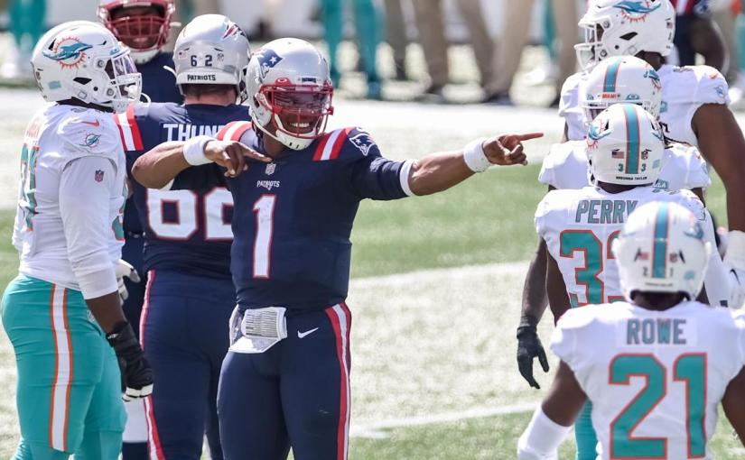 Cam & the Pats rush pastMiami!